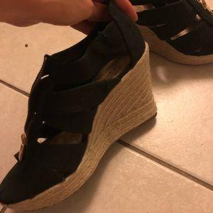 Shoes - black summer wedges